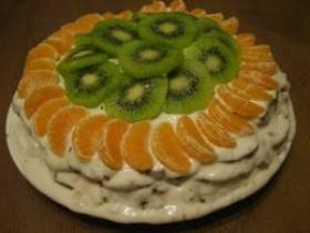 как приготовить фруктовый торт с фото