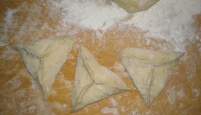 Тесто для треугольника с мясом и картошкой 40