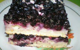 Как испечь пирог с черникой