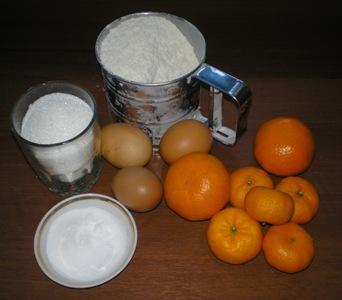 Рецепт приготовления пирога с мандаринами