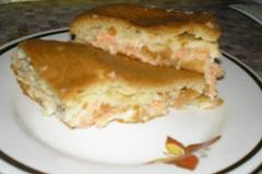 Быстрый рыбный пирог - рецепт