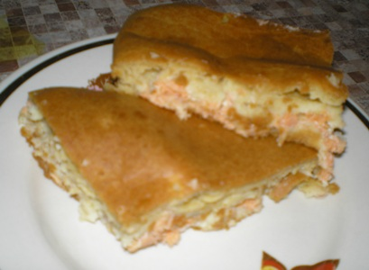 Быстрый рыбный пирог - рецепт с фото
