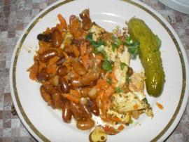Рецепт фасоли с мясом в духовке