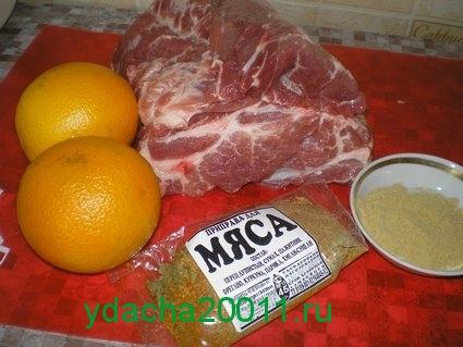 Свинина в апельсинах - рецепт приготовления