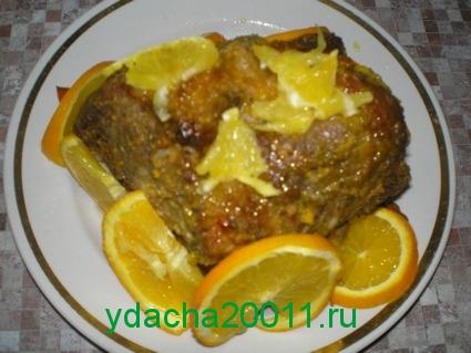 Рецепт приготовления свинины в апельсинах