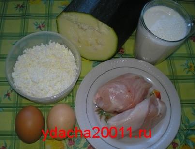 Кабачки с курицей в горшочках - рецепт