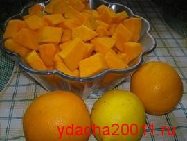 Повидло из тыквы с апельсинами и лимоном:рецепт с фото