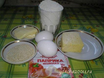 Готовим сырные крекеры